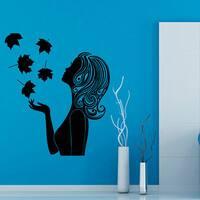 Woman Sexy Face Beauty Spa Hair Salon Decor Black Sticker Vinyl Wall Art