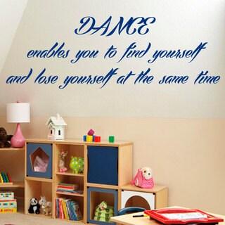 Dance Dancing Inspirational Quote Blue Sticker Vinyl Wall Art