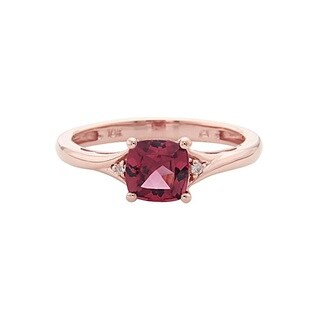 Anika and August 10k Rose Gold Rhodolite and Diamond Accent Ring