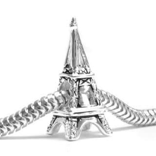 Queenberry Sterling Silver Paris Eifel Tower European Bead Charm