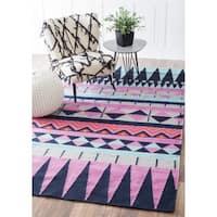 nuLOOM Southwestern Flatweave Wool Multi Rug (5' x 8') - 5' x 8'