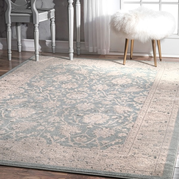 Nuloom Traditional Persian Vintage Blue Rug 7 X27 10 X