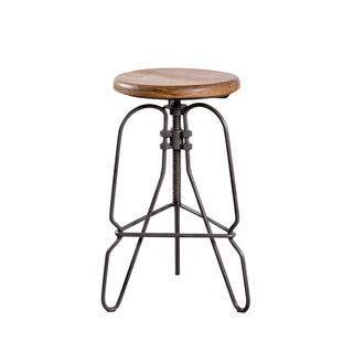 Handmade Torrey Adjustable Counter Stool (India)