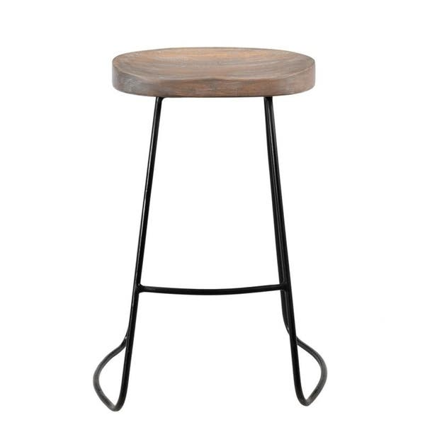 Swell Shop Handmade 24 Counter Chetco Iron And Mango Wood Stool Lamtechconsult Wood Chair Design Ideas Lamtechconsultcom
