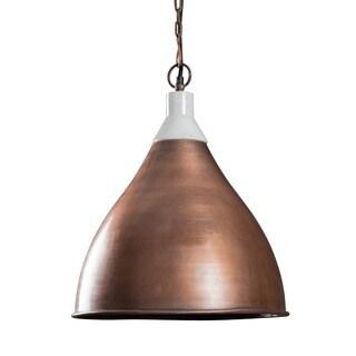 Handmade Benton Copper Pendant Light (India)