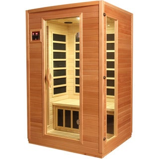 GDI Luxury 2-Person Far Infrared Carbon Natural Hemlock Wood Sauna