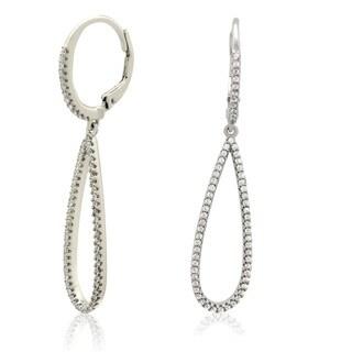 Gioelli Sterling Silver 1 3/8ct Cubic Zirconia Open Dangle Earrings