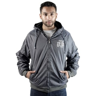 Rock Revolution Men's Reversible NYC logo Zip-Up Hooded Jacket