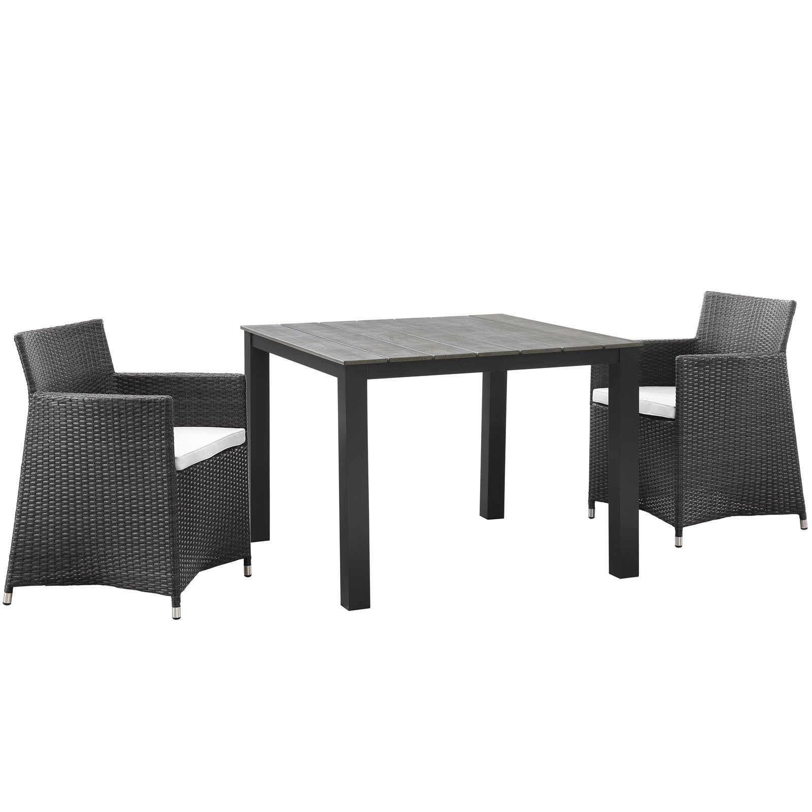Modway Juncture 3-piece Outdoor Patio Wicker Dining Set (...