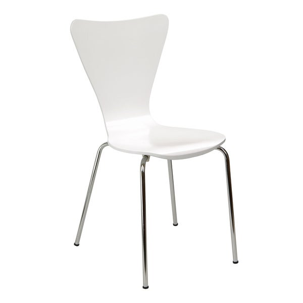 Legare Furniture Bent Ply Chair in White Finish. Opens flyout.