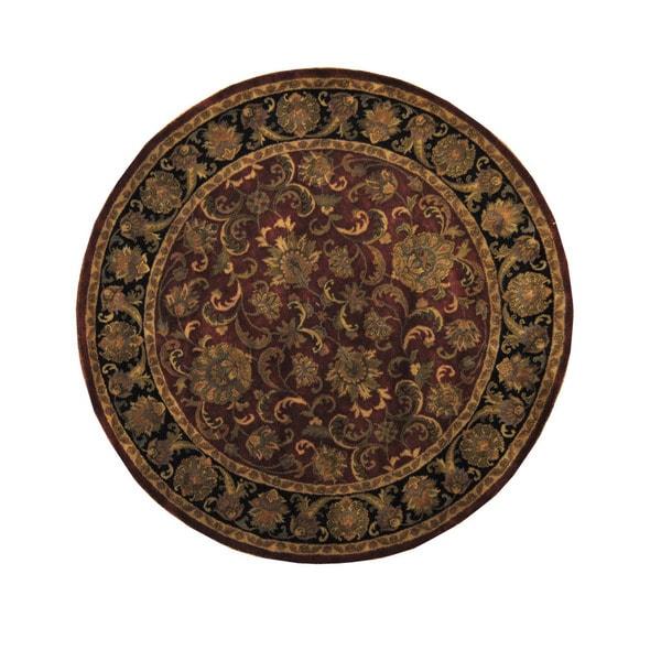 Handmade Herat Oriental Indo Mahal Round Wool Rug (India) - 8' x 8'