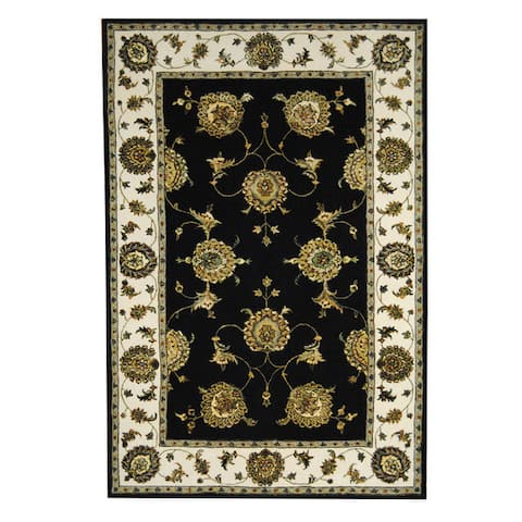 Handmade One-of-a-Kind Floral Tabriz Wool and Silk Rug (India) - 5'9 x 8'9