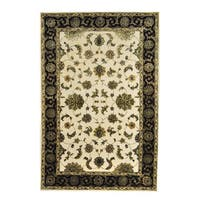 Herat Oriental Indo Hand-tufted Floral Tabriz Wool & Silk Rug (6' x 9') - 6' x 9'