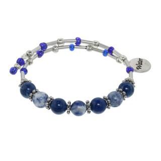 Blue Water Multi Gemstone Wrap Bracelet