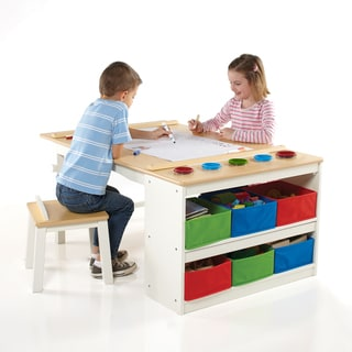 Kidkraft Art Desk With Drying Rack And Storage Free