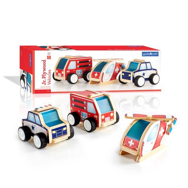 Guidecraft Junior Plywood Community Vehicles