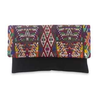 Handcrafted Cotton 'Nebaj Geometry' Clutch Bag (Guatemala)