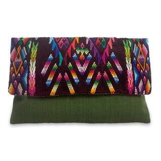 Handcrafted Cotton 'Chichicastenango Geometry' Clutch Bag (Guatemala)