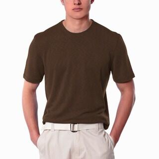 Men's Brown Crew Neck Shirt