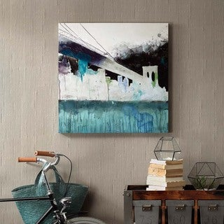 Ink+Ivy Abstracted City Gel Coat Printed Canvas