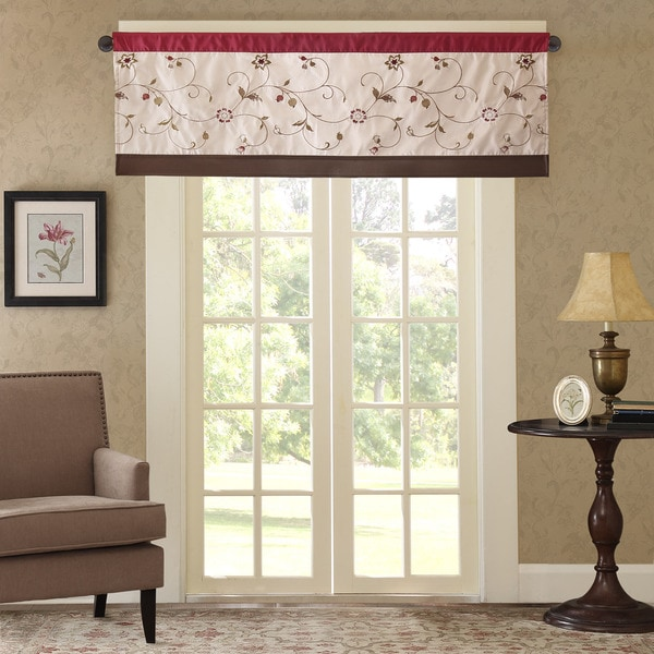Shop Madison Park Belle Embroidered Window Valance Free
