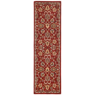 Hand Tufted Salvador Red Wool Runner (2.5'x12')
