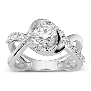Charles & Colvard Sterling Silver 1.16 TGW Round Classic Moissanite Solitaire Fashion Ring