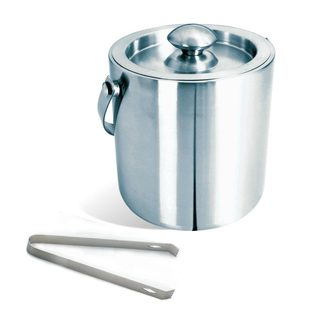 Visol Brushed Stainless Steel Ice Bucket with Tongs
