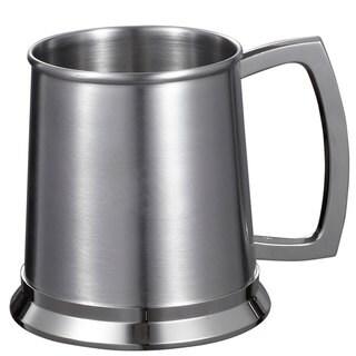 Visol Medi Brushed Stainless Steel 16-ounce Beer Mug