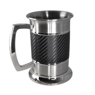 Visol Matrix Carbon Fiber Leatherette 16-ounce Stainless Steel Tankard
