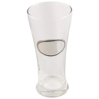 Visol Kendall Pilsner Glass with Pewter 11-ounce Engraving Plate