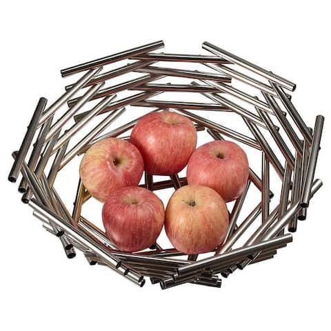 Visol Girard Large Stainless Steel Fruit Bowl