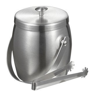 Visol Symon Stainless Steel Double-walled Ice Bucket with Tongs