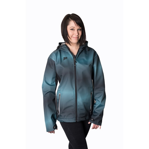 Mossi Women's Turquoise/ Black Adrenaline Windbreaker Jacket