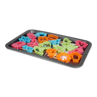 Better Chef 17 x 12 Baking Tray with 19 Assorted Cookie Cutters