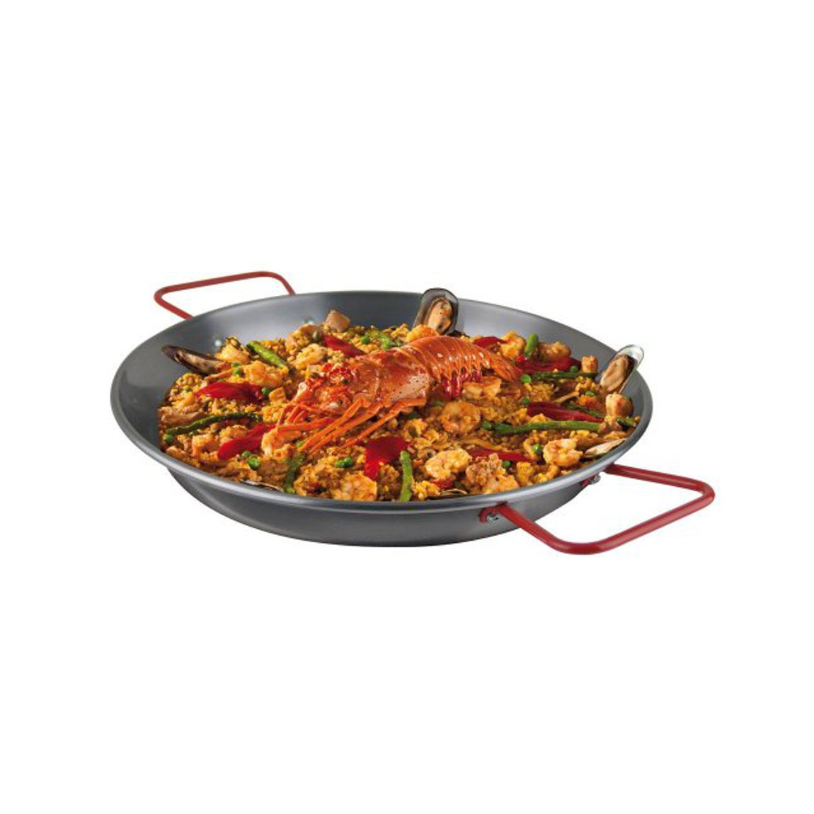Magefesa Carbon Steel Paella Pan Overstock 10083237 36 D X 2 H Silver