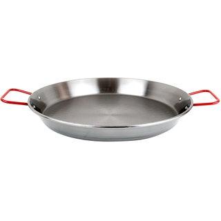 Magefesa Satin Carbon Steel Paella Pan (Option: Stainless Steel - 9-inch)