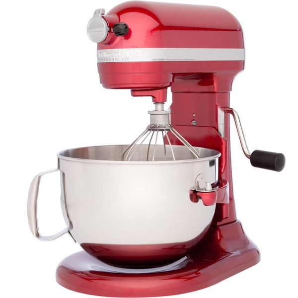 Shop Kitchenaid Rkp26m1xca Candy Apple Red 6 Quart Bowl