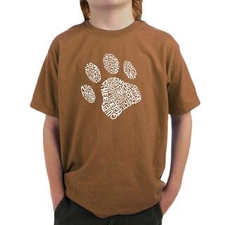 LA Pop Art Boy's Dog Paw T-shirt (4 options available)