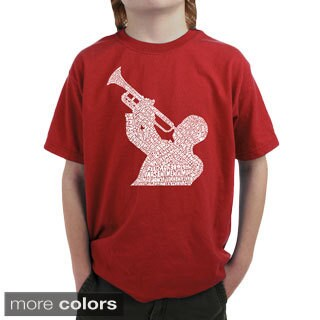 LA Pop Art Boy's Jazz Greatest Hits T-shirt