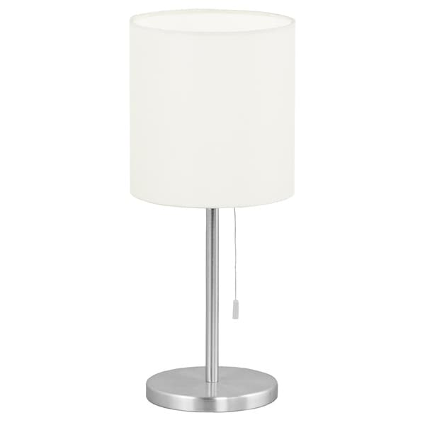 Eglo Sendo 1-light Aluminum Finish Table Lamp with White Shade