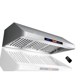 Golden Vantage 1801 36-inch Stainless Steel Under Cabinet Mounted Remote Controled Range Hood