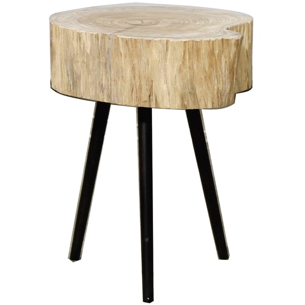 Colby Angsana Wood Natural Finish End Table