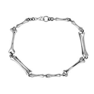 Exotic Punk Skeleton Bone Link .925 Silver Bracelet (Thailand)