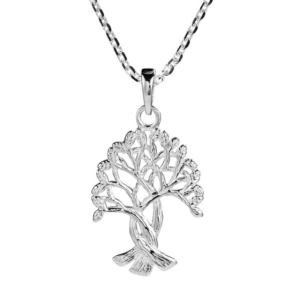 4ddaaf821c4d ... Necklaces     Sterling Silver Necklaces. Handmade Intertwined Tree Of  Life Branches Binding Root .925 Silver (Thailand)