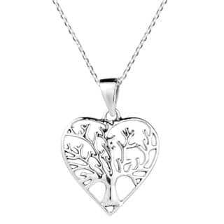 Handmade Heart Shape Tree of Life Sterling Silver Necklace (Thailand)|https://ak1.ostkcdn.com/images/products/10083575/P17226793.jpg?impolicy=medium