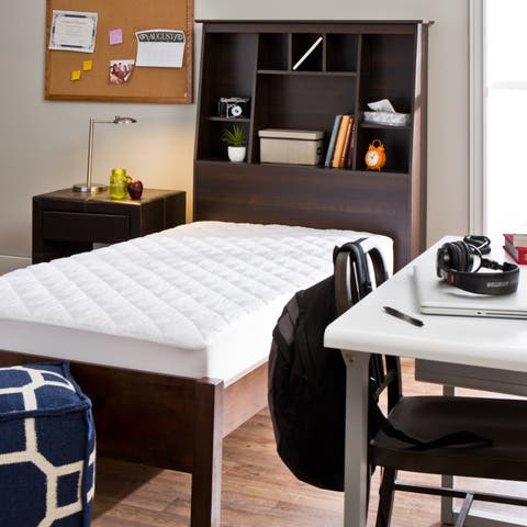 Tommy Bahama Triple Protection Stain Release Waterproof Dorm Ready Twin XL Mattress Pad - White