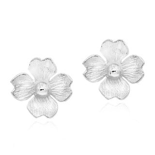 Summer Clover Blossom .925 Sterling Silver Stud Earrings (Thailand)