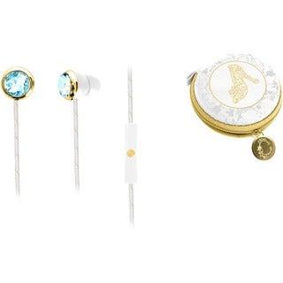 Cinderella Fashion iHome Noise Isolating Ear Buds with Built-in Mic and Travel Case