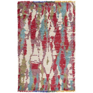 Hand-Knotted Fareham Abstract Wool Area Rug - 4' x 6'